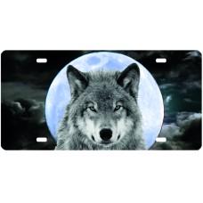 Plaque d'auto loup
