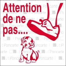 Attention de ne pas ( écraser )