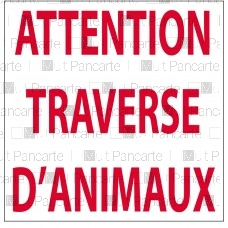 Attention traverse d'animaux